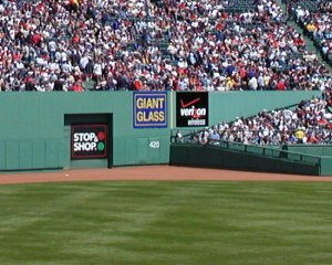 Fenway Park's Center Field Triangle