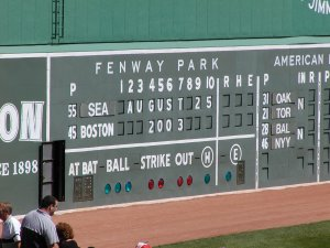 Fenway Park's Manual Scoreboard