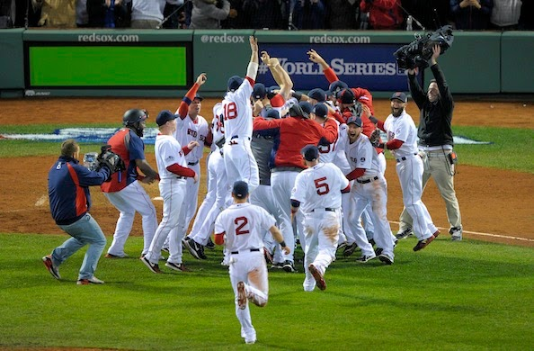 2013 World Champion Boston Red Sox On-Field Celebration